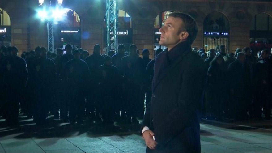 Macron à Strasbourg : hommage aux victimes et aux forces de l'ordre