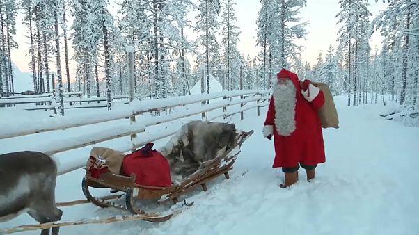 O Pai Natal já saiu da Lapónia
