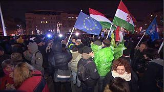 Proteste gegen Ungarns Regierung