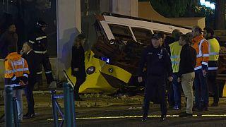 28 heridos en un accidente de tranvía en Lisboa