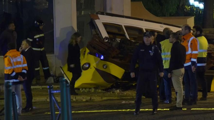 Tram overturns in Portugal injuring 28 people
