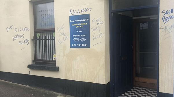 'Baby killers': Irish politician's office defaced with anti-abortion graffiti