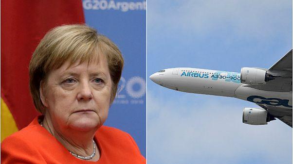 Uçağı arızalandığı için zirveye geciken Merkel'in başbakanlık filosuna yenileme kararı
