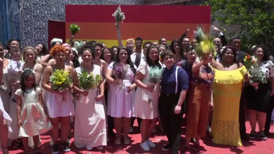 Same sex couples rush to marry before Bolsonaro takes power in Brazil