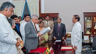 مراسم سوگند رانیل ویکرمسینگه، نخست وزیر سریلانکا