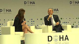 وزير الخارجية التركي مولود جاويش أوغلو في منتدى الدوحة 16-12-2018
