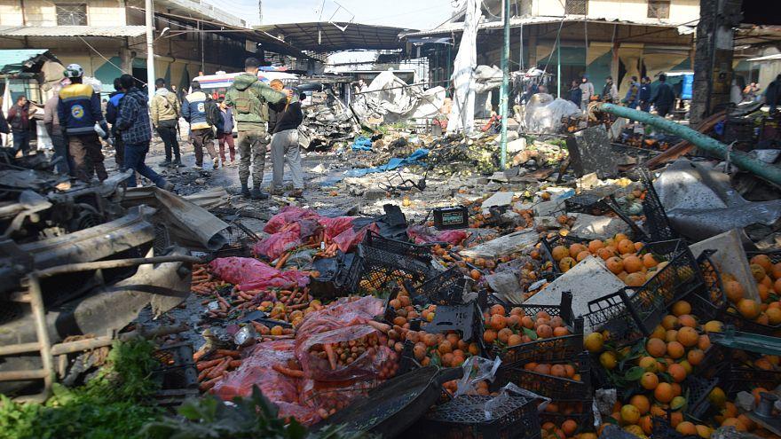 Afrin'de pazar yerine bombalı saldırı: 4 ölü 20 yaralı