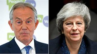 Theresa May accuses Tony Blair of 'undermining' Brexit negotiations