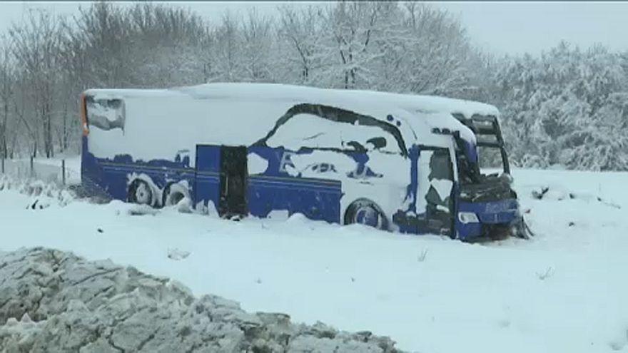 Σερβία: Θανατηφόρο τροχαίο λόγω χιονοθύελλας