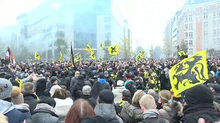 Az ENSZ migrációs csomagja ellen tüntettek Brüsszelben