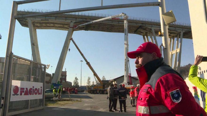 Genoa bridge demolition begins