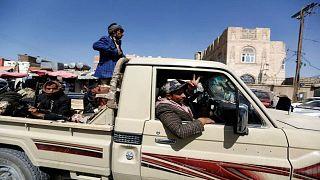 مقاتلون حوثيون في صنعاء 04-12-2018