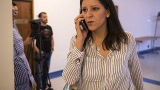 Az MTVA székházába hirdetett sajtótéjékoztatót az éjszakát bent töltő 13 képviselő