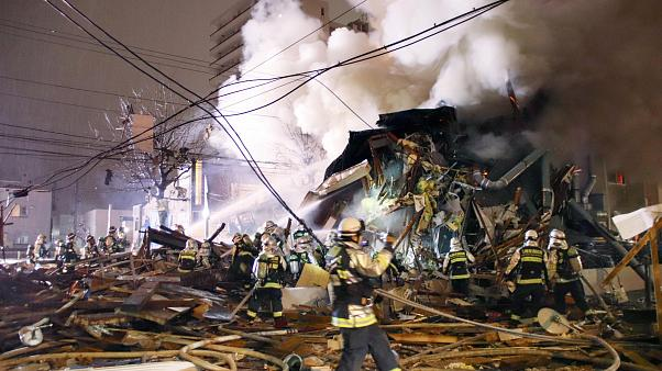 Nagy erejű robbanás egy étteremben, Japánban