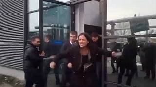 Hungarian MPs forcibly removed from offices of state-run TV station