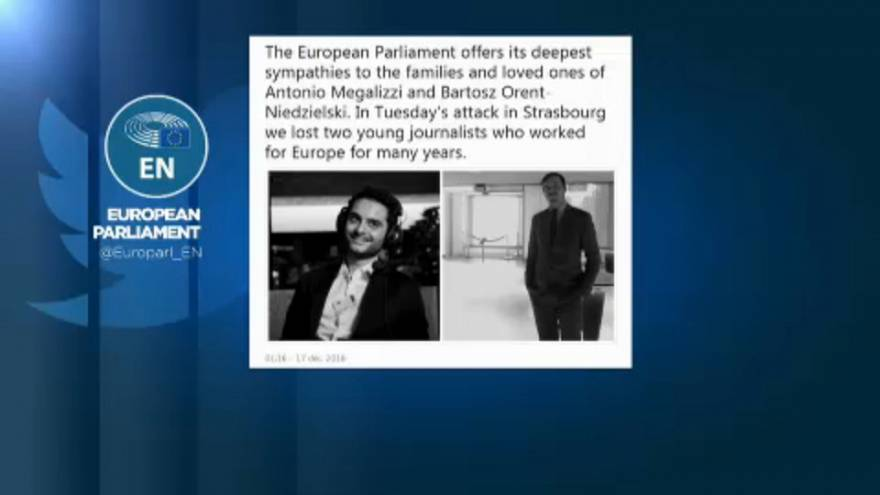 Homenagem a jornalistas mortos em Estrasburgo