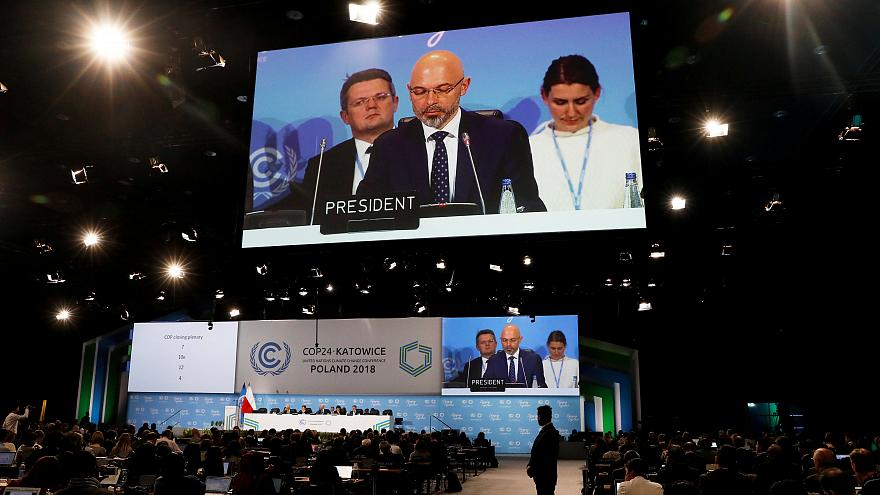 COP24 President Michal Kurtyka speaks during a final session of the COP24