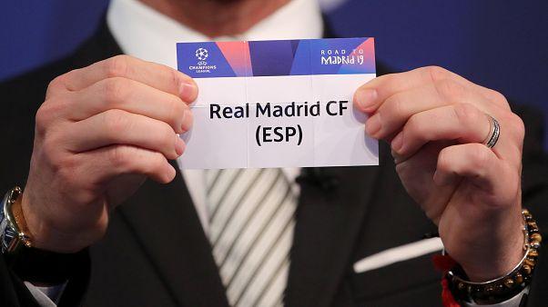 Sorteo de octavos de la Champions:  Atlético de Madrid-Juventus, Lyon-Barcelona y Ajax-Real Madrid