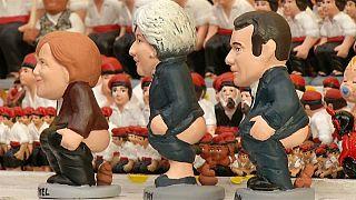 شخصيات سياسية بارزة في مشهد المهد الخاص بعيد الميلاد في إسبانيا