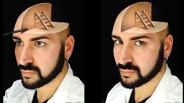 Video | Üç boyutlu makyaj sihirbazı: İtalyan sanatçı Luca Luce'nin çizimleri