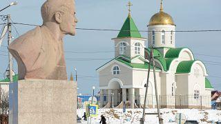 صورة من جزيرة كوناشير، إحدى الجزر الأربع المتنازع عليها بين اليابان وروسيا