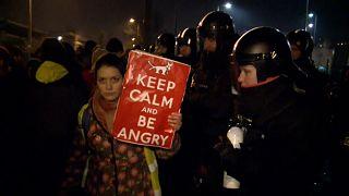 Staats-TV im Visier: Proteste gegen Regierung in Budapest