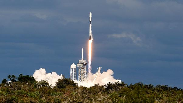A SpaceX Falcon 9 rocket launches from Florida on November 15, 2018.