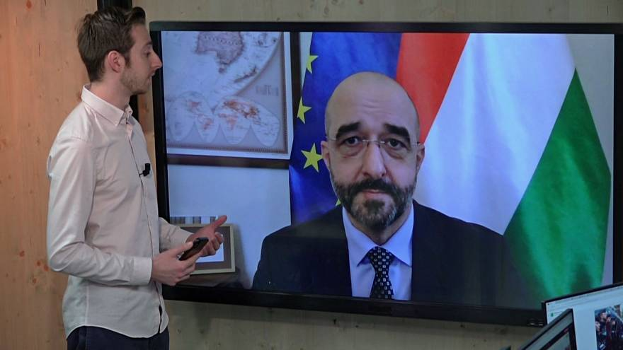 Hungary Government Spokesman Zoltan Kovacs speaks to Euronews' Alex Morgan