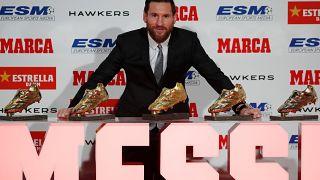 Leo Messi recibe su quinta Bota de Oro