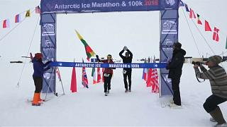 Runners brave extreme conditions in the Antarctic Ice Marathon