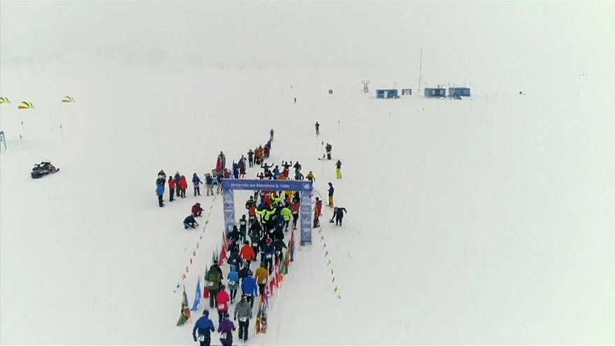 Марафон в ледяной пустыне Антарктиды