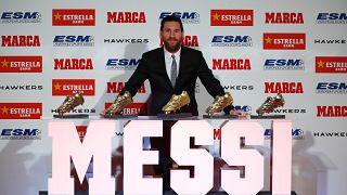 ميسي يفوز بجائزة الحذاء الذهبي للمرة الخامسة ويسجل رقماً قياسياً جديداً