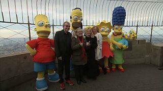 سیمپسونها ۳۰ سالگی خود را در نیویورک جشن گرفتند