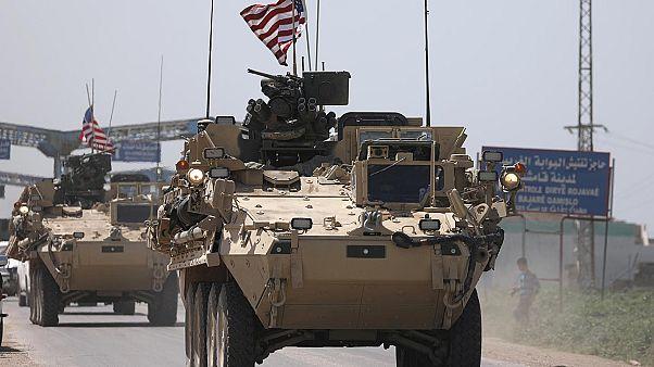Suriye'nin Kamışlı kentindeki ABD askerleri