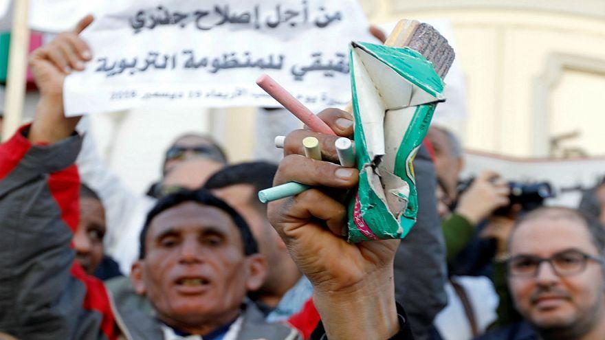 تونس: آلاف الأساتذة في الشوارع للمطالبة بتحسين الأجور والأوضاع المهنية