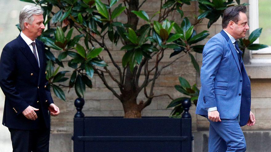 Bart De Wever, presidente del N-VA, se va tras la reunión con el rey Felipe