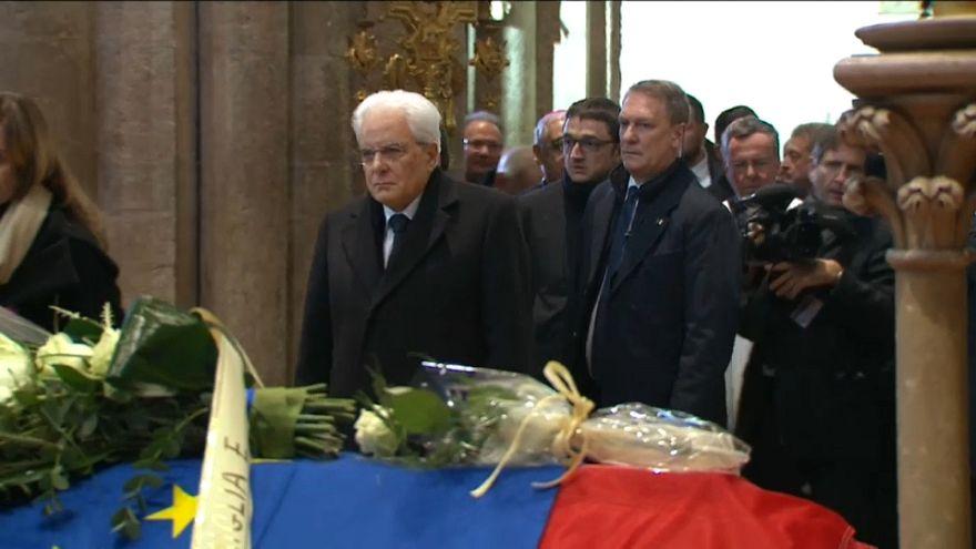 Trento, i funerali di Antonio Megalizzi, ultima vittima di Strasburgo