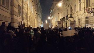 A bécsi tüntetés