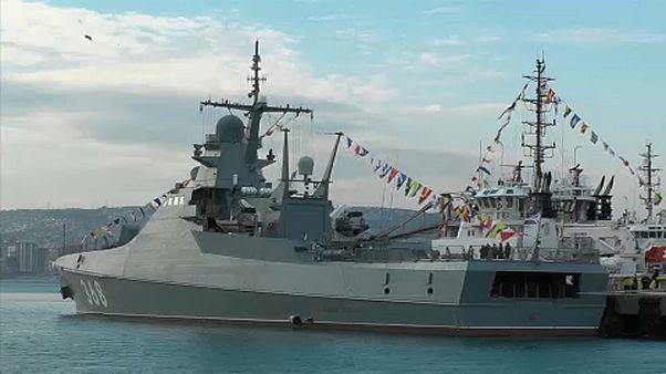 شاهد: البحرية الروسية تعزز أسطولها بفرقاطة جديدة في البحر الأسود