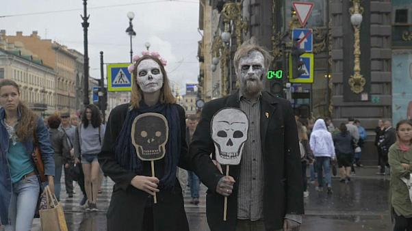 Meet Russia's 'Party of the Dead' free-speech activists | NBC Left Field