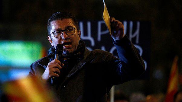 ΠΓΔΜ: Αντικυβερνητική διαδήλωση για τη Συμφωνία των Πρεσπών
