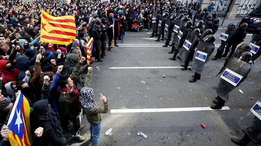 Tüntetés Barcelonában