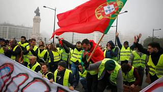Portugal's 'yellow vests' turn out for anti-government protests