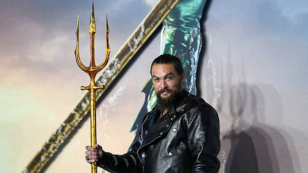 Actor Jason Momoa at the premiere of new superhero film, 'Aquaman.'