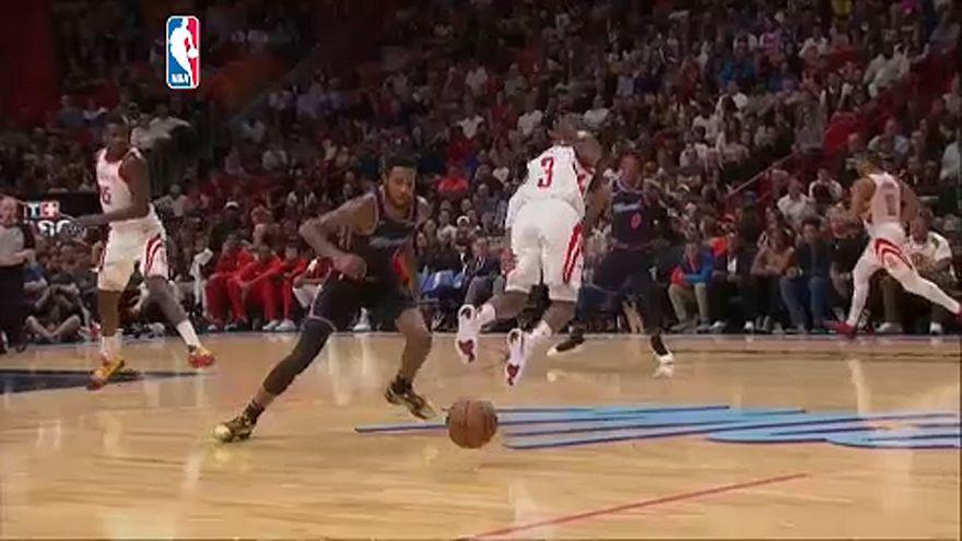NBA: Chris Paul ismét megsérült, kikapott a Rockets a Miamitól