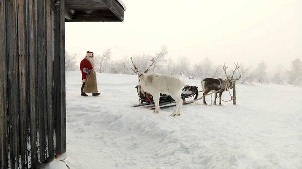 Der Weihnachtsmann ist unterwegs