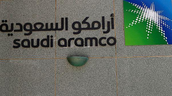 شعار أرامكو السعودية في الظهران 23 مايو ايار 2018