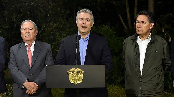 Devlet Başkanı Duque, Guacho'nun öldürüldüğünü basın toplantısında duyurdu