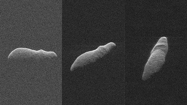 Dünya'nın yakınından geçen Holiday Asteroidi'nin görüntüleri