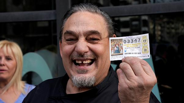"Spain's Christmas lottery winners celebrate ""the Fat One"""